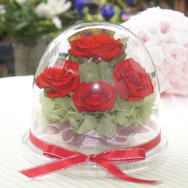 お母様や女性への還暦祝いのプリザーブドフラワー・花のドーム
