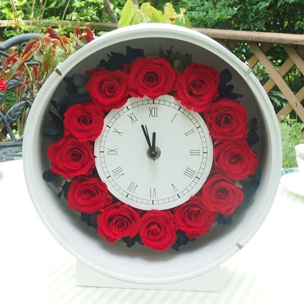 還暦祝いのプリザーブドフラワー花時計