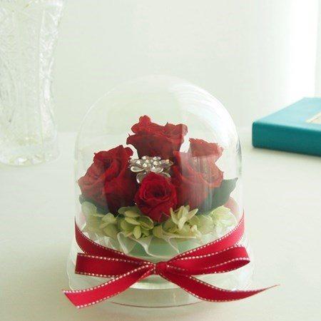 お母様や女性への還暦祝いプリザーブドフラワー・花のドーム